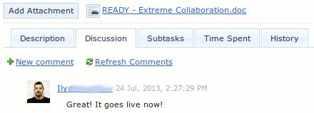 collaboration discussion thread